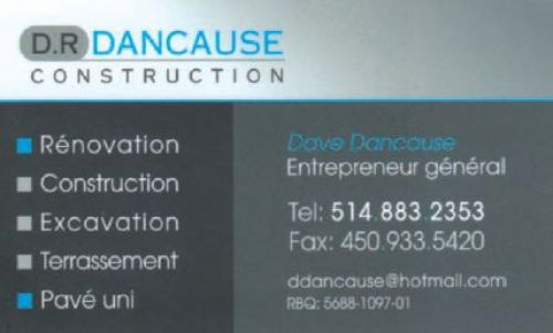 D.R Dancause - Construction à Laval